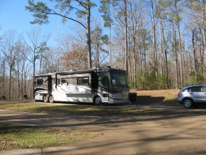 Our campsite in Natchez State Park.