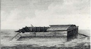 Flatboats were ideal for carrying heavy loads down rivers. Even the Ohio and Mississippi rivers could be shallow in places during dryer seasons.