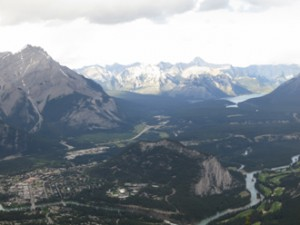 View of Banff from Sulphur Mountain.