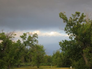 Watching a storm pass through our campground.