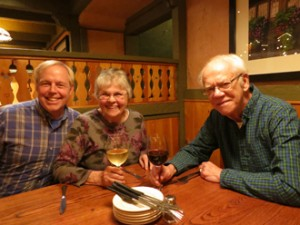Kevin with Carolyn and Keith Neubauer.