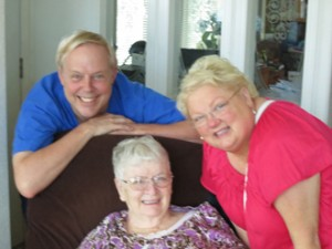 Kevin and Jana with their mother, Marian.