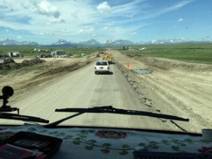 We encountered major road construction north of Browning on US-89 N.
